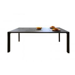 Table de repas pour jardin en métal L200cm - vue de face - TIMOR