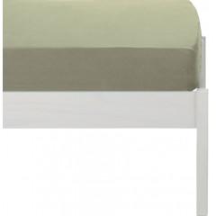 Drap housse enfant vert en lin lavé 90x140 - VENCE 581