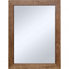 Miroir en bois exotique ayous 50x70 cm - DIANE 000