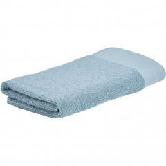 Lot de 2 serviettes de toilette bleu celadon 50x100 - AZUR 681