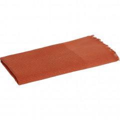 Lot de 2 serviettes de toilette orange en lin et coton 50x100 - ALES 821