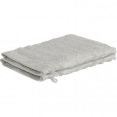 Lot de 6 gants de toilette longues mèches en viscose et coton gris - AUBIN 154