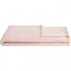 Plaid polaire en polyester 100x100cm - rose - AMELIE