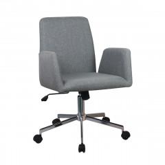 Fauteuil de bureau en tissu gris anthracite avec accoudoirs assise réglable roulettes et structure en métal - CALL
