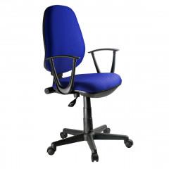 Fauteuil de bureau en mesh bleu assise réglable dossier inclinable avec roulettes et accoudoirs - DESK