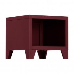 Table de chevet en métal style industriel - coloris rouge - LOFTER