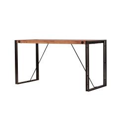 Bureau en bois et métal design industriel - vue en angle - ATELIER