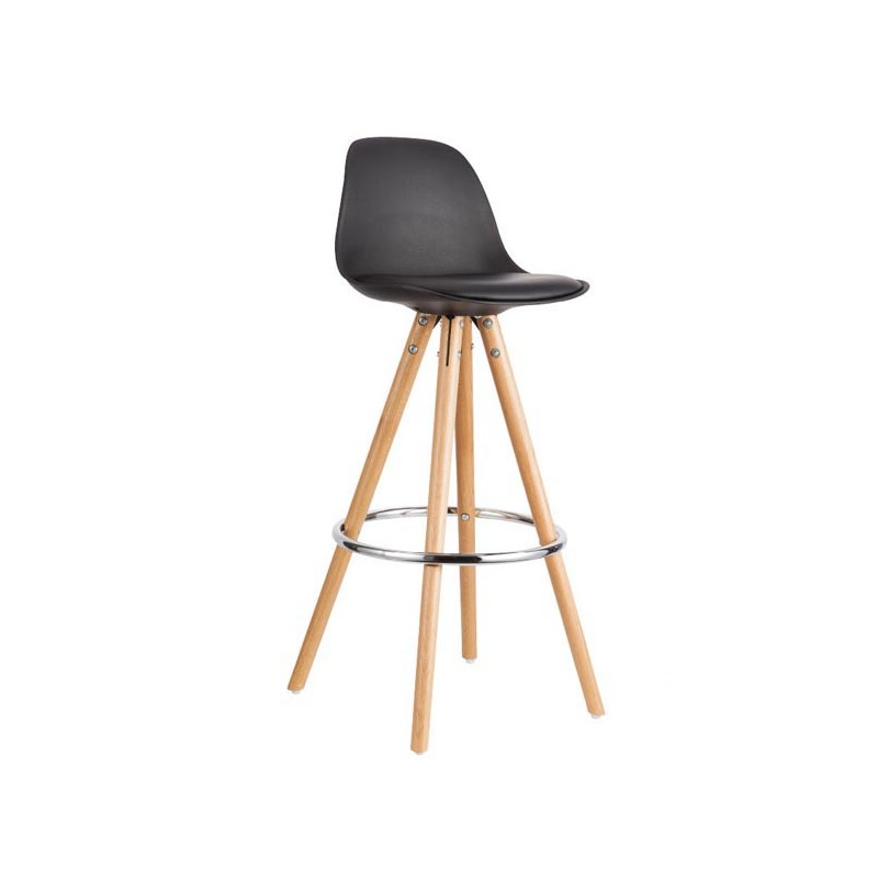 tabouret de bar tabouret de bar style scandinave mignon tabouret de bar bois jive faux cuir. Black Bedroom Furniture Sets. Home Design Ideas