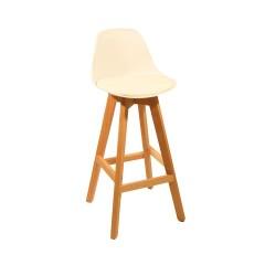 Mel - Tabouret chaise de bar scandinave Blanc