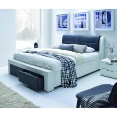 Lit 2 places 140x190 cm noir et blanc - CHELLO