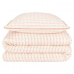 Parure de lit en coton et coton jacquard 240x220 cm - vue en d'ensemble - TAREK 521