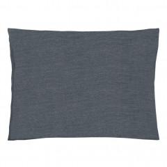 Lot de 2 taies d'oreiller en coton chambray gris 50x70cm - vue de face - FRIOUL 691
