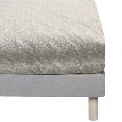 Drap housse en coton motif amande 140x200cm bonnet 27 cm - vue principale  - CIGALO 004