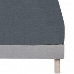 Drap housse en coton gris 160x200cm bonnet 27 cm - FRIOUL 677