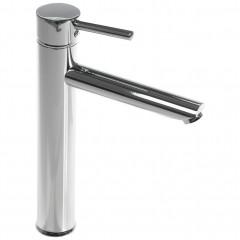 Robinet mitigeur de salle de bain chrome en laiton argenté - zoom - PEGASE 757