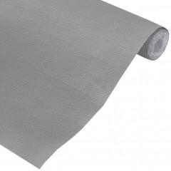 Nappe en papier gaufrée gris, rouleau de 5 x 1,2 mètre - PAPEL 9107