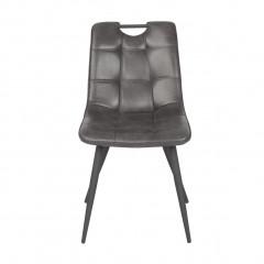Chaise design vintage avec piètement métal noir - vue de face - SPOOKY