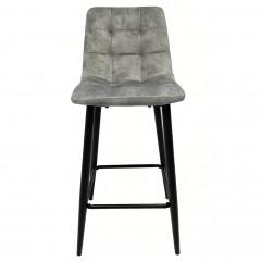 Chaise de bar capitonnée en velours - 3 coloris - HERBY