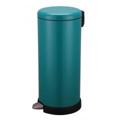 Poubelle de cuisine à pédale 30L Inox vert