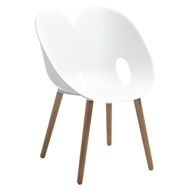 chaise design blanche nadege belhome. Black Bedroom Furniture Sets. Home Design Ideas