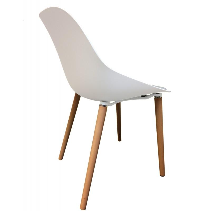 chaise bois et tissu barbara belhome. Black Bedroom Furniture Sets. Home Design Ideas