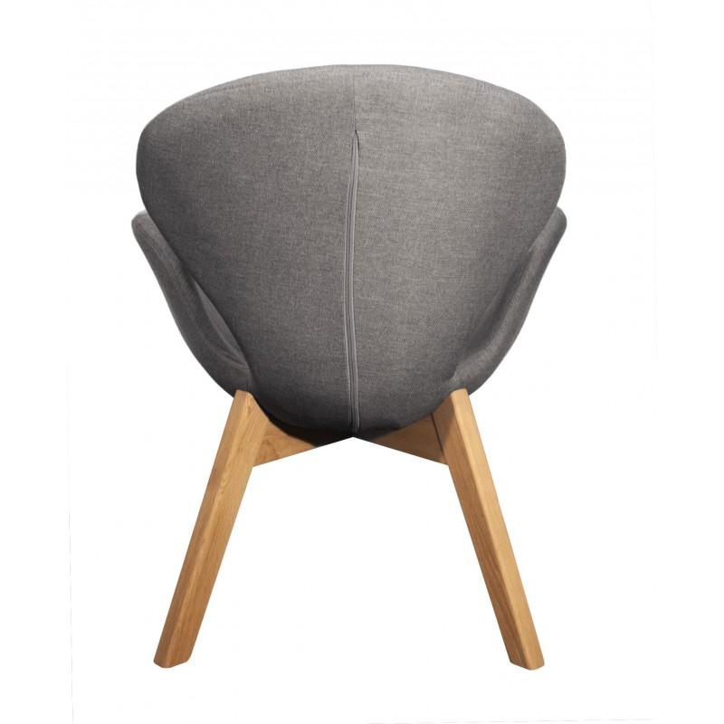Chaise grise pied bois latest chaise tissu et bois chaise for Chaise grise bois