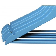 Lot de 5 cintres en bois massif colorés blue