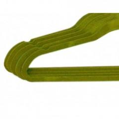 Lot de 5 cintres en feutrine vert