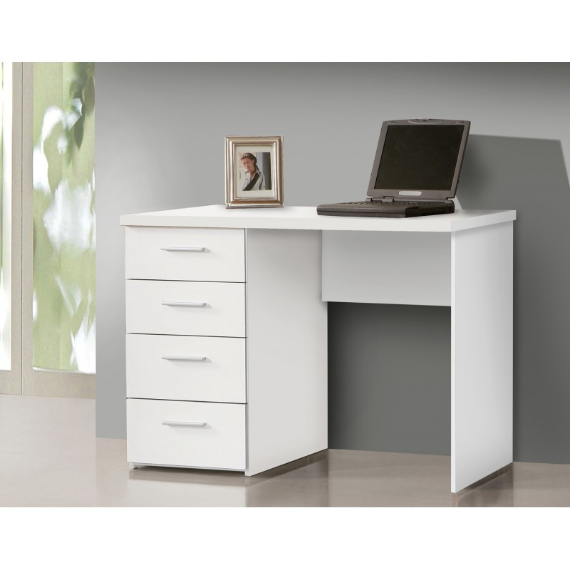 bureau blanc avec rangement demi ministre. Black Bedroom Furniture Sets. Home Design Ideas