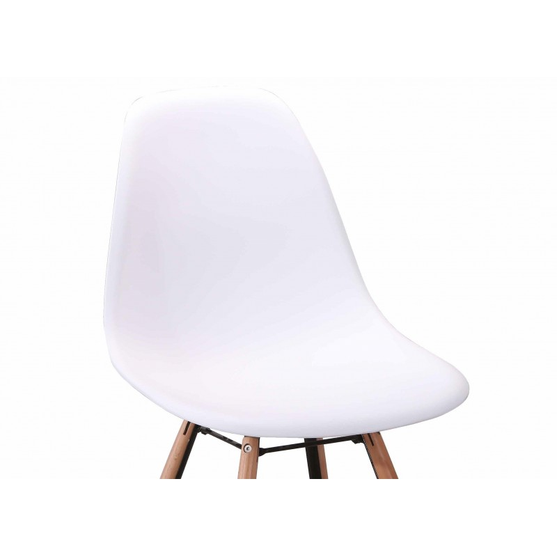 Chaise design scandinave blanche scandi for Chaise scandinave blanche