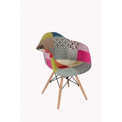 Fauteuil design patchwork multicolore - RETRO