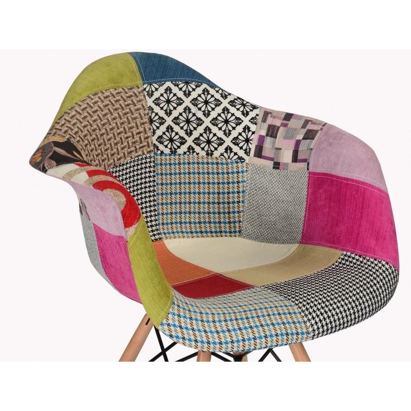 Fauteuil Design Patchwork RETRO - Fauteuil design patchwork