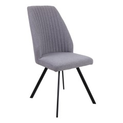 Chaise aux fines coutures apparentes - Gris - LOOPY
