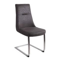 Chaise contemporaine cantilever - Gris foncé - STORY