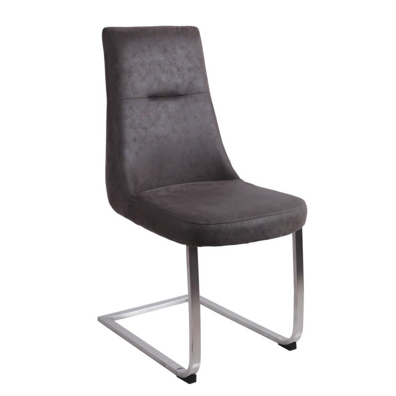 chaise contemporaine gris fonc story. Black Bedroom Furniture Sets. Home Design Ideas