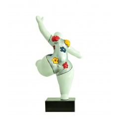 Statue femme danseuse décoration florale