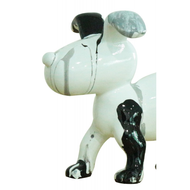 objet dco noir et blanc petit chien design