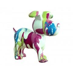 Petit chien sculpture décorative multicolore - design moderne contemporain H14 cm- POP SNOOP
