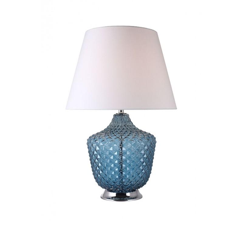 Chic En Coloré Bleu Poser À Lampe Boreale Classique Verre Style UpGzqSLVM