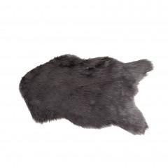 Tapis fausse fourrure gris - SKIN