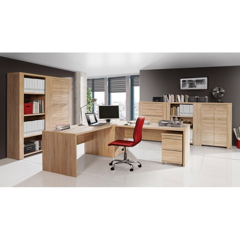 bureau professionnel d 39 angle et son caisson calpe. Black Bedroom Furniture Sets. Home Design Ideas