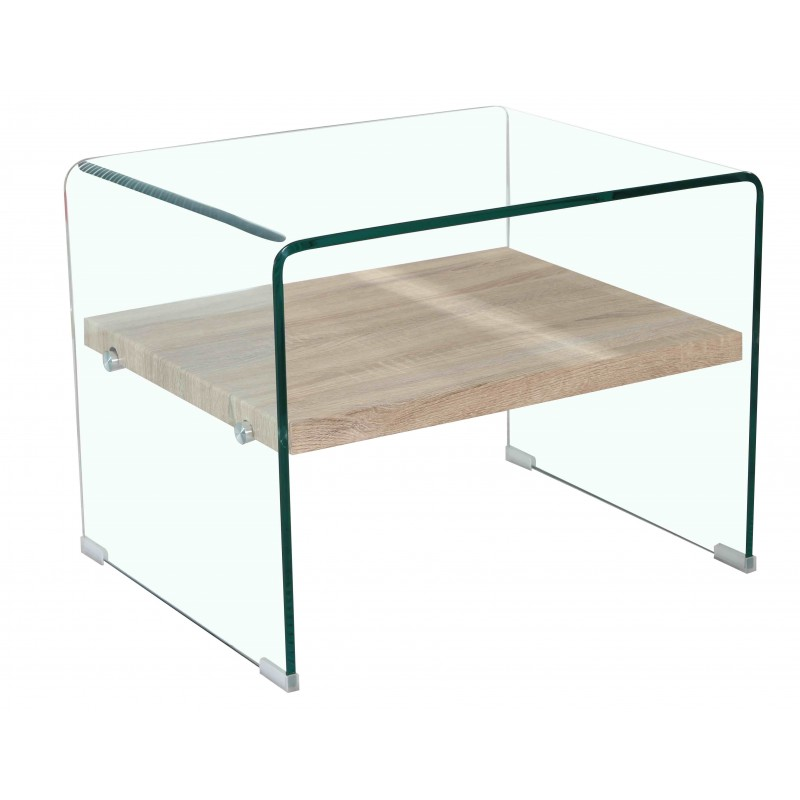 table d 39 appoint en verre glass. Black Bedroom Furniture Sets. Home Design Ideas