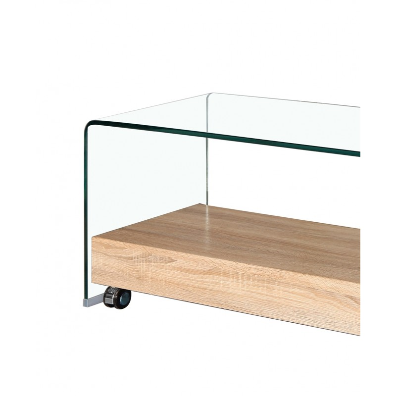 Meuble tv en verre transparent glass - Meuble en verre ...