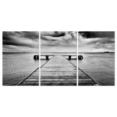 Tableau plexiglas / Photo NOIR et BLANC - triptyque