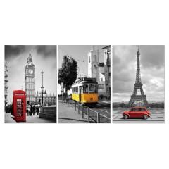 Tableau photo plexiglas / Décoration murale pays - triptyque