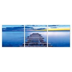 Tableau plexiglas / Déco photo murale Ponton - triptyque