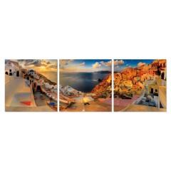 Tableau photo plexiglas / Décoration murale Grèce - triptyqueTableau photo plexiglas / Décoration murale Grèce - triptyque