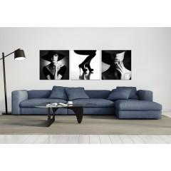 Tableau photo / Décoration murale femme - triptyque