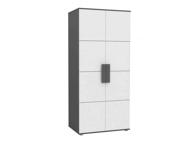 armoire 2 portes enfant ado blanche design contemporain. Black Bedroom Furniture Sets. Home Design Ideas