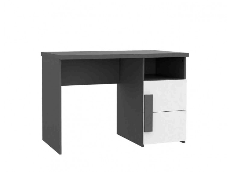 bureau enfant ado design gris et blanc style moderne. Black Bedroom Furniture Sets. Home Design Ideas